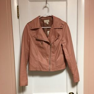 Forever 21 Pink Faux Leather Jacket
